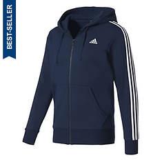 adidas Men's Essentials 3S Full-Zip Brushed Fleece Hoodie