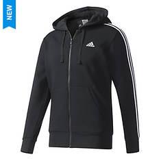 adidas Men's Essentials 3S Full-Zip  Brusehd Fleece Hoodie