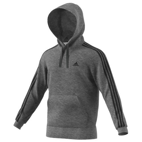 adidas Men's Essentials 3S Pullover Brushed Fleece Hoodie