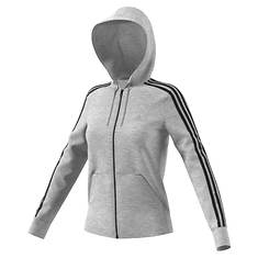 adidas Women's Essentials Cotton Fleece 3S Full-Zip Hoodie