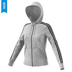 adidas Women's Essentials Cotton Fleece 3S Full-Zip Hoodie