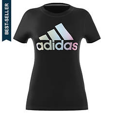 adidas Women's Badge Of Sport Iridescent Mesh Tee