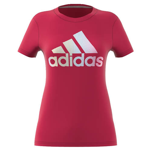 adidas Women's Badge Of Sport Iridescent Mesh Tee