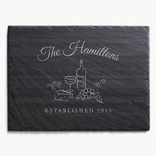 Personalized Slate Wine & Cheese Serving Board