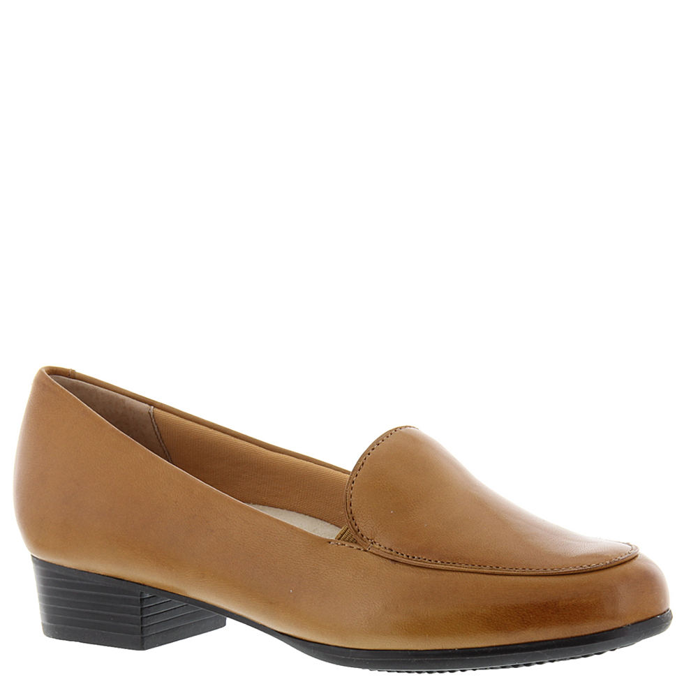 1940s Style Shoes, 40s Shoes Trotters Monarch Womens Tan Slip On 10.5 W $99.95 AT vintagedancer.com