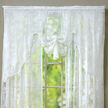 Abbey Rose Floral Lace Swag Valance