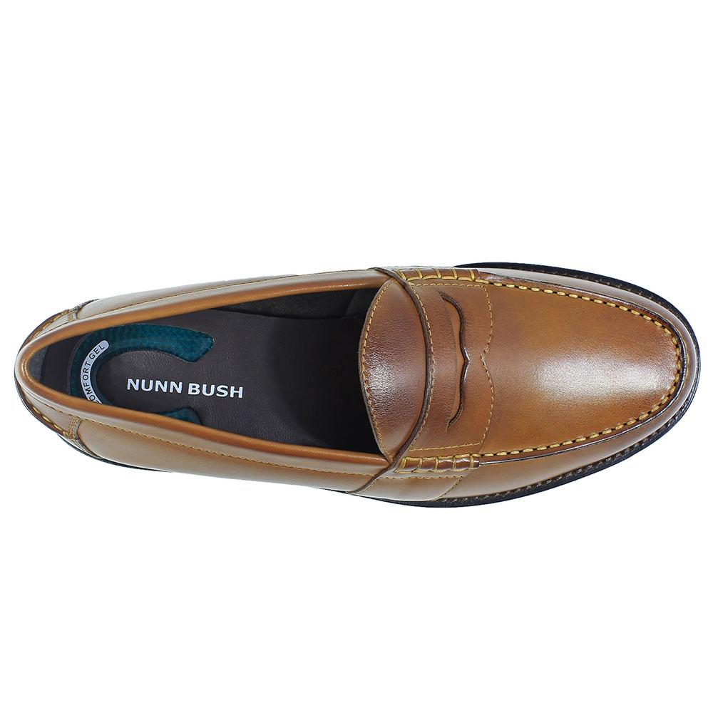 11a100447da Men s Nunn Bush Noah Beef Roll Penny Loafer 12 W Cognac Leather