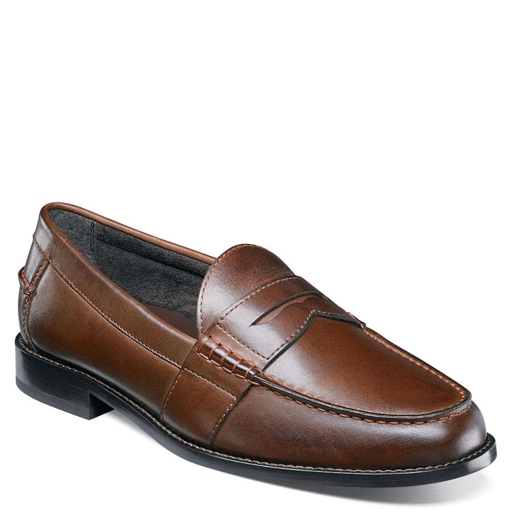 c73e22fbe3d Nunn Bush Men s Noah Beef Roll Penny Loafer 8 M Brown Leather