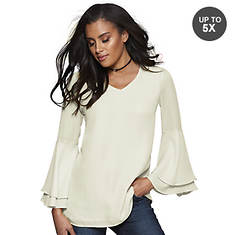 Bell-Sleeve Blouse