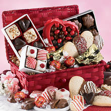 Valentine Snacks in Gift Basket