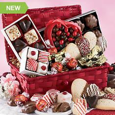 Valentine Snacks in Gift Basket