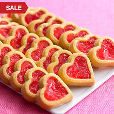 Cherry Heart Cookies on Tray
