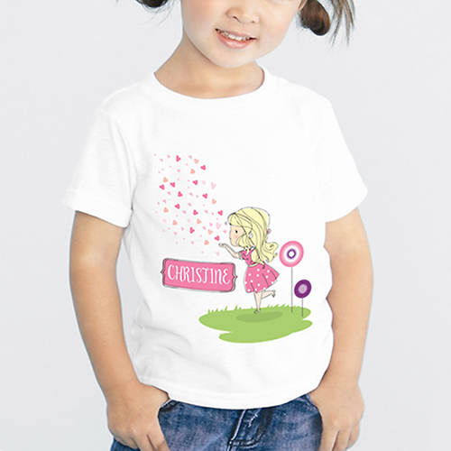 Personalized Hearts & Kisses Tee