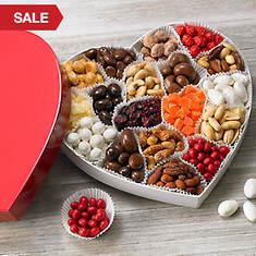 Valentine Snacks in Heart Box