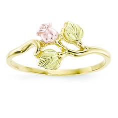 10K Tri-Color Black Hills Gold Rose Ring