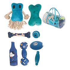 Pet Life 8-Piece Duffel Bag Pet Toy Set