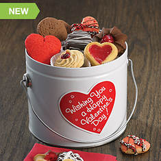 Valentine Cookie Assortment in Pail