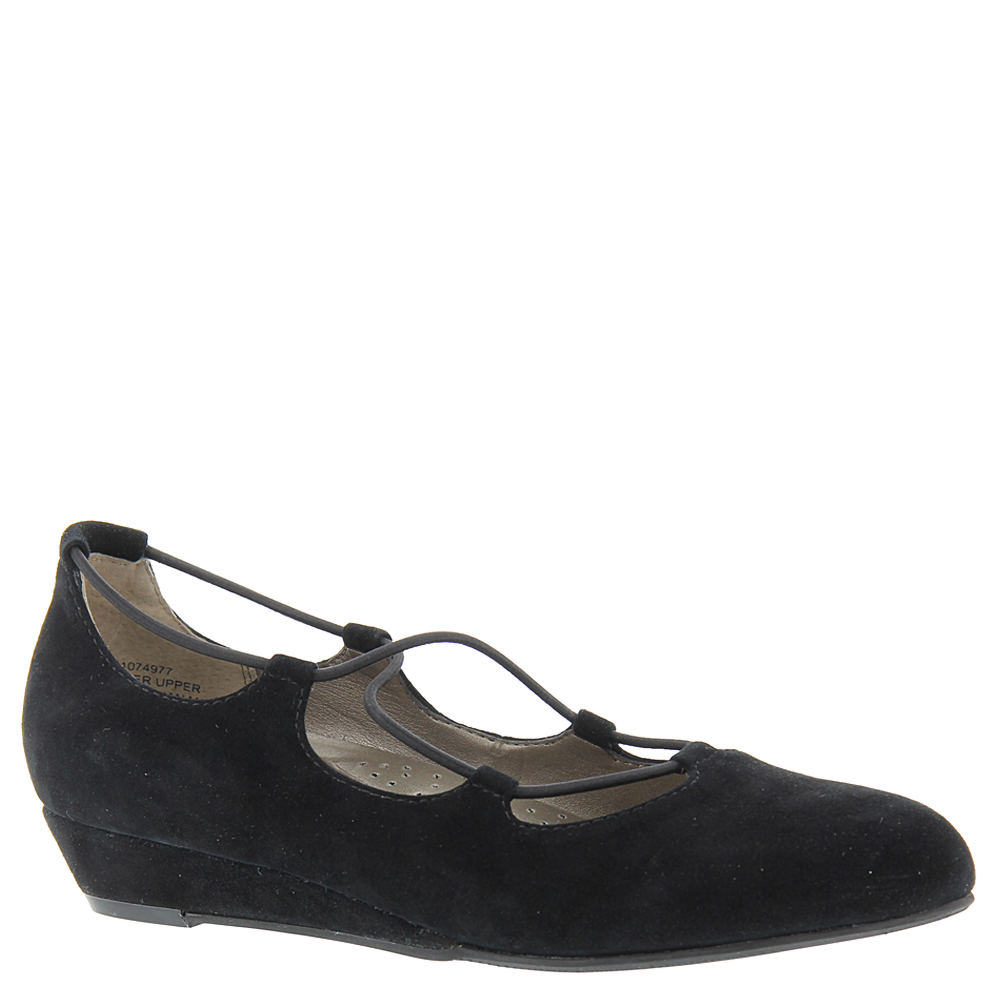 Rockabilly Shoes- Heels, Pumps, Boots, Flats ARRAY Echo Womens Black Slip On 10 W $54.99 AT vintagedancer.com