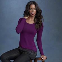 Asymmetric Lace And Chiffon Sweater