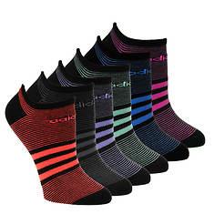 adidas Women's Superlite Stripe 6-PK No Show