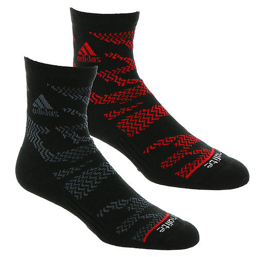 adidas Men's tiger Style 2-PK High Quarter Socks