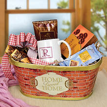 Monogrammed Godiva® Chocolate & Coffee Basket-L