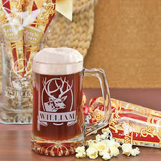 Personalized Man Cave Beer Mug & Popcorn