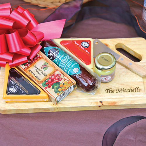 Personalized Gourmet Cheese Board Member Gift