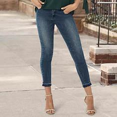 Printed Crop Jeans