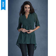 Chiffon High-Low Shirt