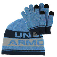 Under Armour Boys' Beanie Glove Combo 2.0
