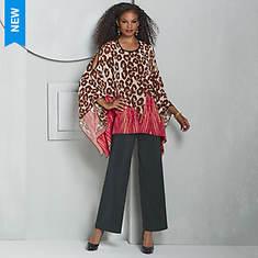Leopard Poncho Pant Set