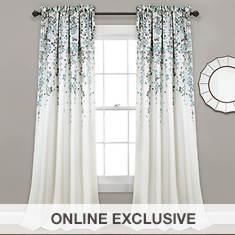 Lush Decor - Weeping Flowers Room Darkening Window Curtains