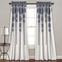 Lush Decor - Stripe Medallion Room Darkening Window Curtains