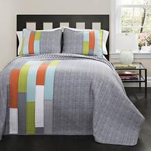 Lush Décor - Shelly Stripe Quilt 3-Piece Set