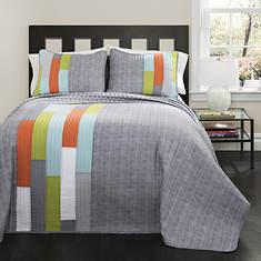 Lush Decor - Shelly Stripe Quilt 2-Piece Set