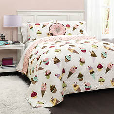 Lush Decor - Cupcake Ice Cream Quilt 4-Piece Set