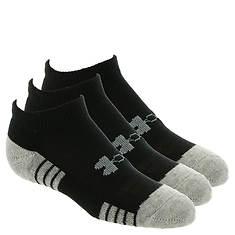 Under Armour Boys' 3-Pack Heatgear Tech No Show Socks