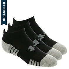 Under Armour Boys' 3-Pack Heatgear Tech No Show Socks