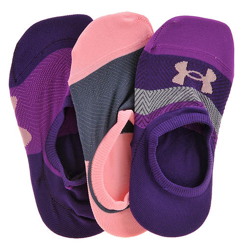 Under Armour Girls' 3-Pack Essential Ultra Low Socks