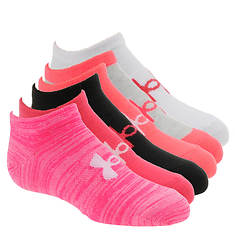 Under Armour Girls' 6-Pack Essential Season Mix No Show Socks