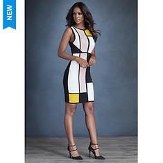Geometric Colorblock Dress