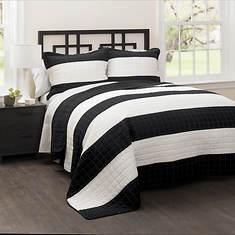 Lush Décor - Stripe Quilt 3-Piece Set