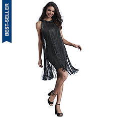 Metallic Fringe Dress