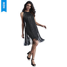 Metallic Fringe Dress
