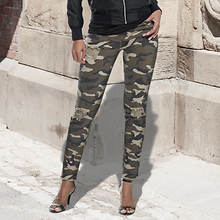 Destructed Camo Jeans