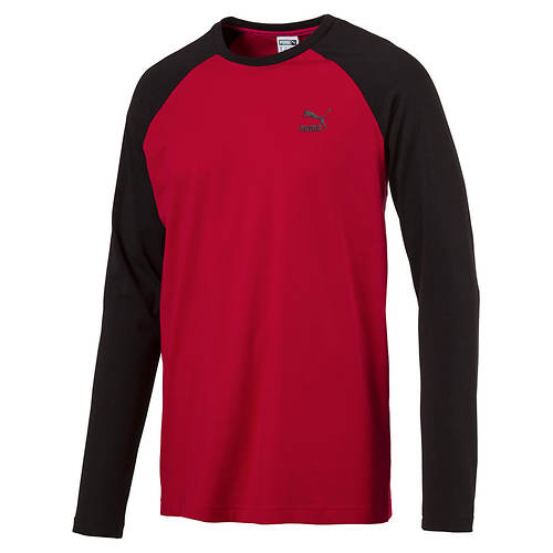 Puma Men's Archive Logo Raglan Long-Sleeve Shirt