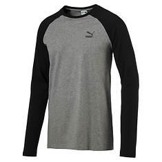 Puma Men's Archive Logo Raglan Long-Sleeve Shirt