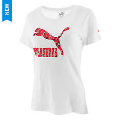 PUMA Women's Archive Life Graphic Fill Tee
