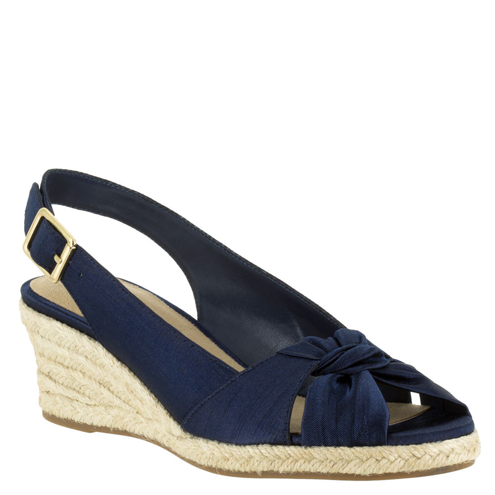 1940s Style Shoes, 40s Shoes Bella Vita Seraphina II Womens Navy Sandal 6.5 W $79.95 AT vintagedancer.com
